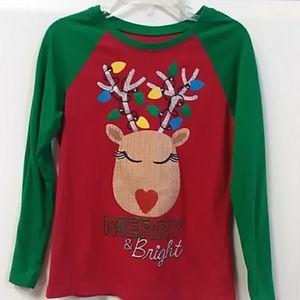 Girls size 6X Christmas shirt